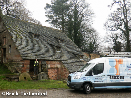 Brick-Tie-install-Cintec-anchor-system-at-historic-Cheshire-Mill