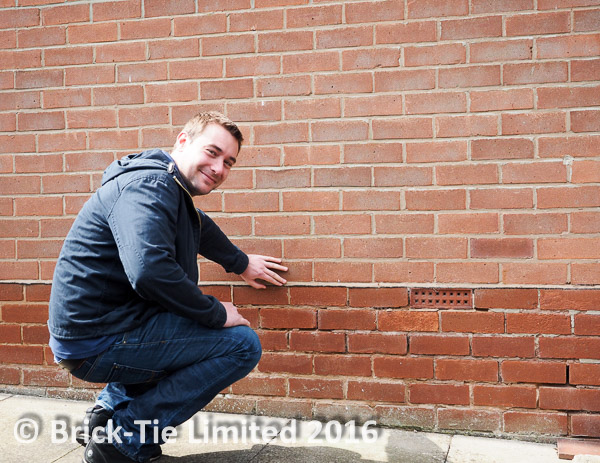 Danny shows us that rising damp can only be stopped by a damp proof course