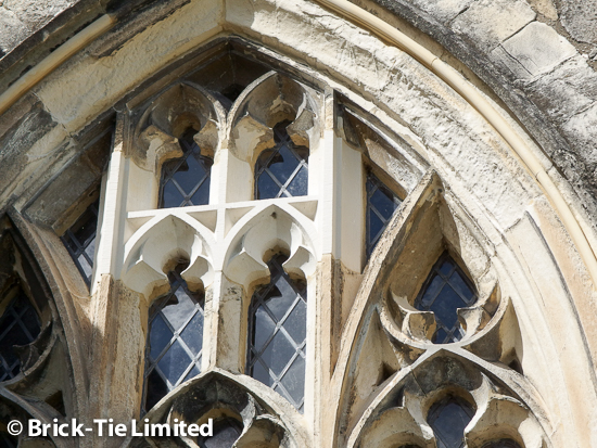 Structural repairs of masonry including historic fabric