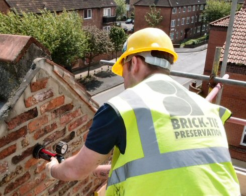 Testing cavity wall ties to BRE329 in Yorkshire