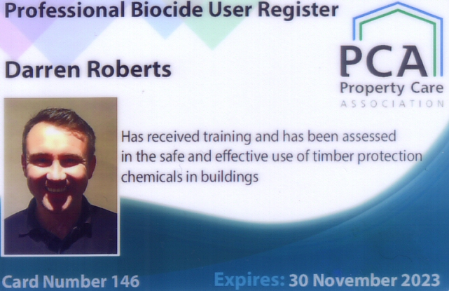 Biocide Accreditation - Darren Roberts