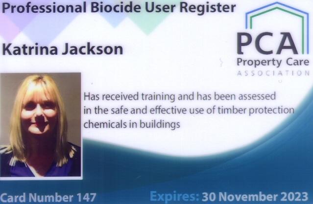 Biocide Accreditation - Katrina