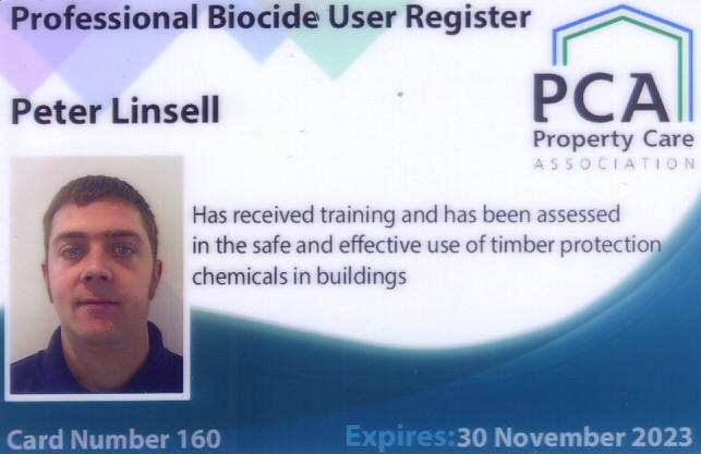 Biocide Accereditation - Peter Linsell