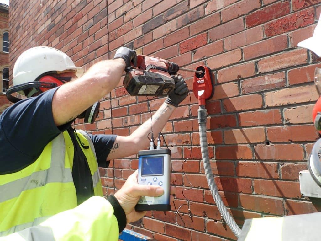 Vibration exposure monitoring via Brick-Tie