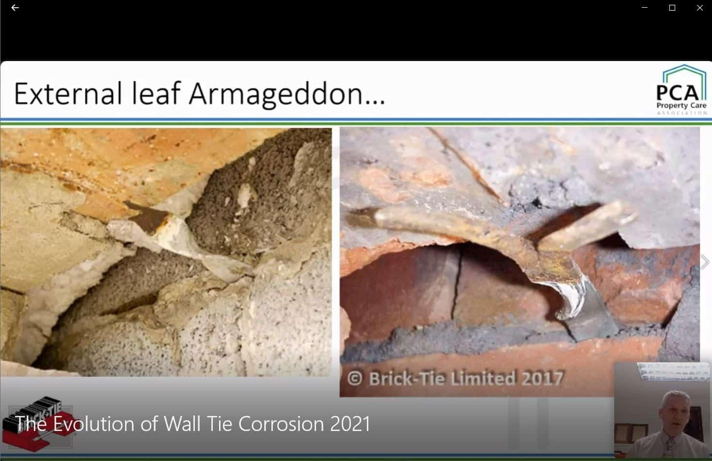 Wall Tie Corrosion webinar