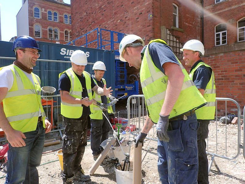 Brick-Tie technicians site meeting at City Square House